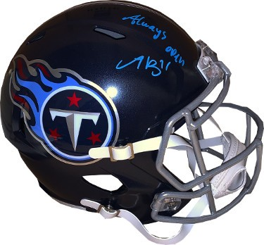 Aj A J Brown Autographed Signed Tennessee Titans Navy Speed Fs Rep Helmet 11 W Always Open Jsa Witnessed