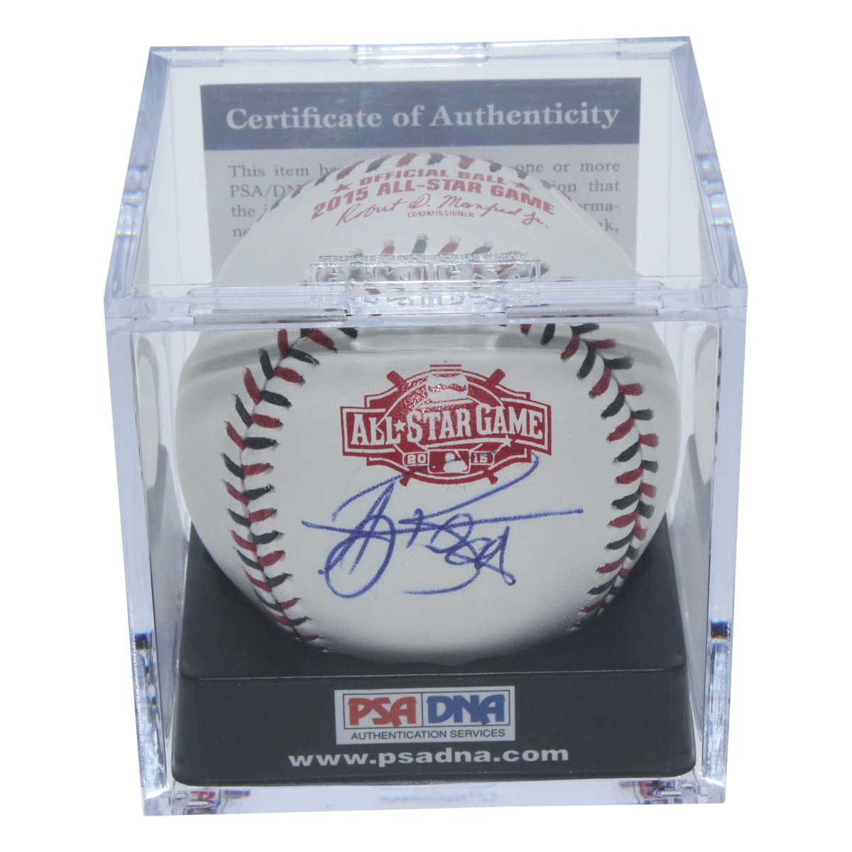 5beb2d35764 AJ Burnett Autographed Signed 2015 MLB All Star Game Baseball - PSA DNA  Authentic