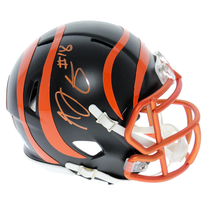 056100ffe AJ Green Cincinnati Bengals Autogaphed Riddell Speed Blaze Mini Helmet -  Stripe Removed - PSA/DNA Authentic