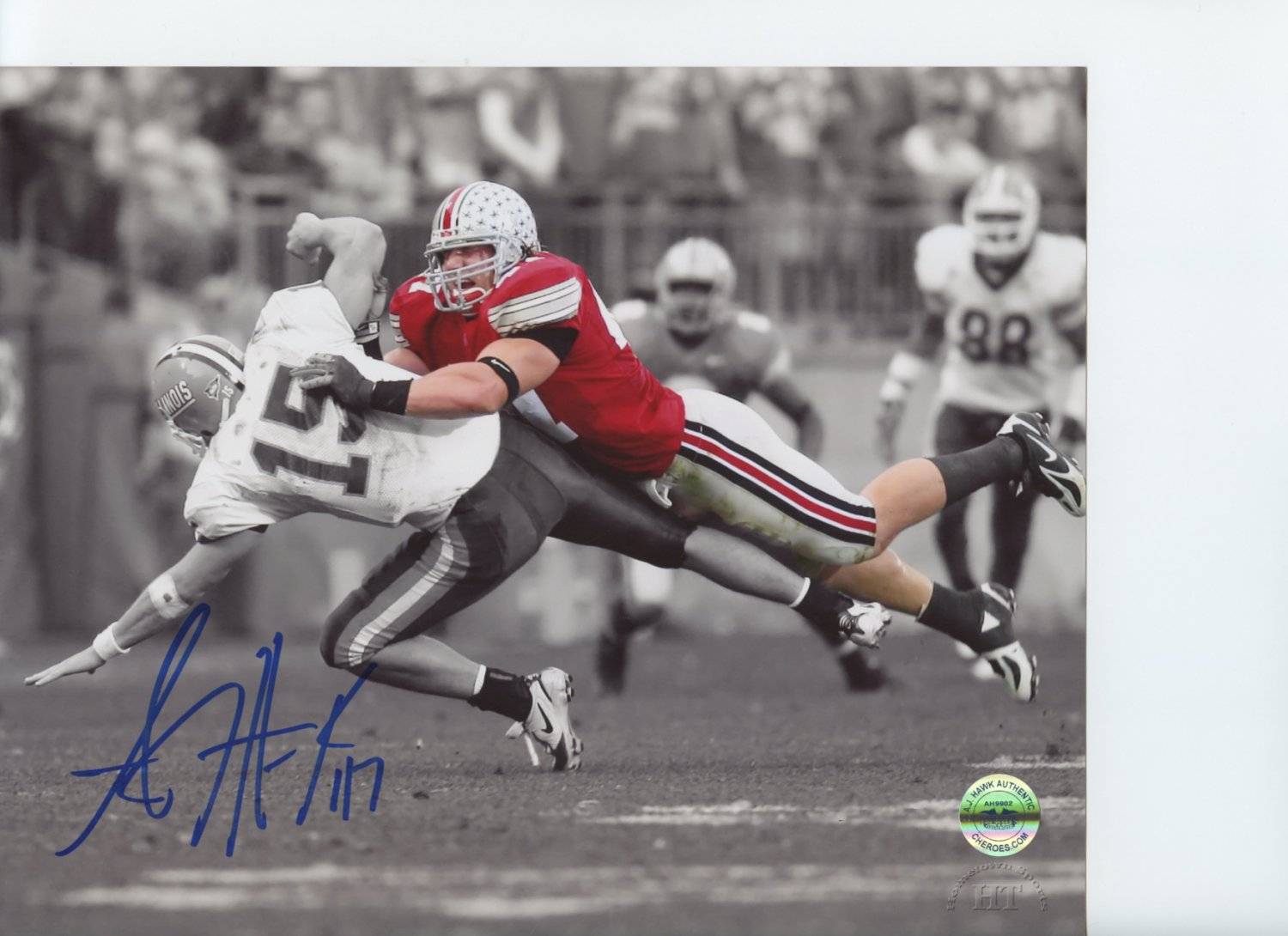 best sneakers 46d5b c8cdc AJ Hawk Ohio State Buckeyes Autographed Signed 8x10 Photo ...