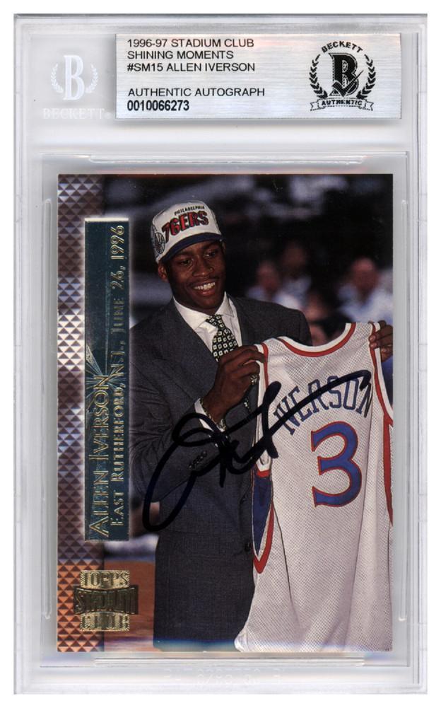 Basketbal 1996-97 Upper Deck 91 Allen Iverson Philadelphia 76ers RC Rookie Basketball Card Verzamelkaarten: sport
