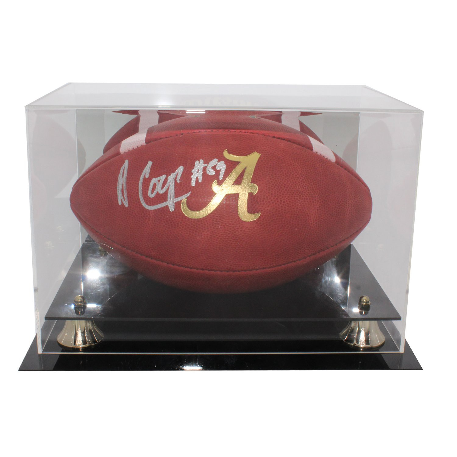 Amari Cooper Autographed Signed Alabama Crimson Tide Limited Edition Wilson  Gold  A  Football in Display Case - JSA Authentication ca012eb90