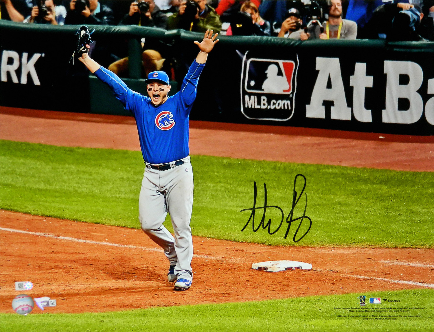 best service 0edff d6c47 Anthony Rizzo Autographed Signed Chicago Cubs 2016 World ...