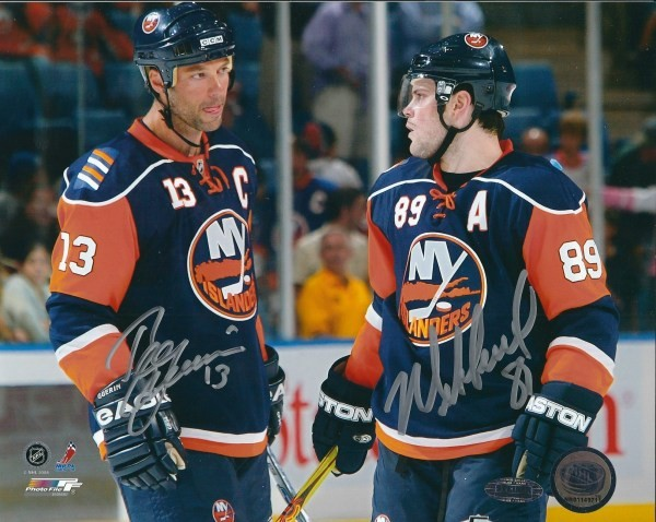 big sale d97be b7702 Autographed Signed Bill Guerin & Mike Comrie 8x10 New York ...