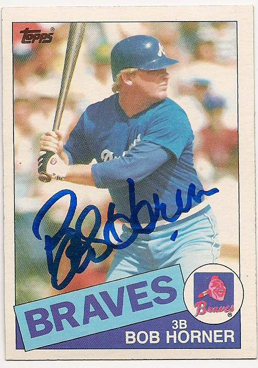 Autographed Signed Bob Horner 1985 Topps Card Certified