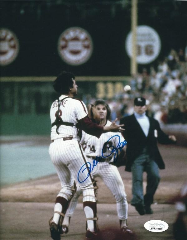 Pete Rose Philadelphia Phillies Signed Black Rawlings Baseball Bat JSA ITP