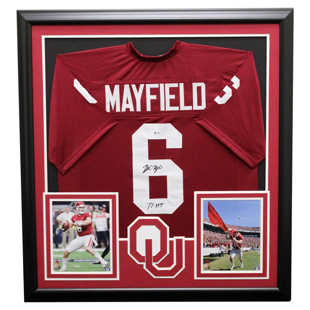 new concept 381ac 8be3a Baker Mayfield Oklahoma Sooners Framed Autographed Signed ...