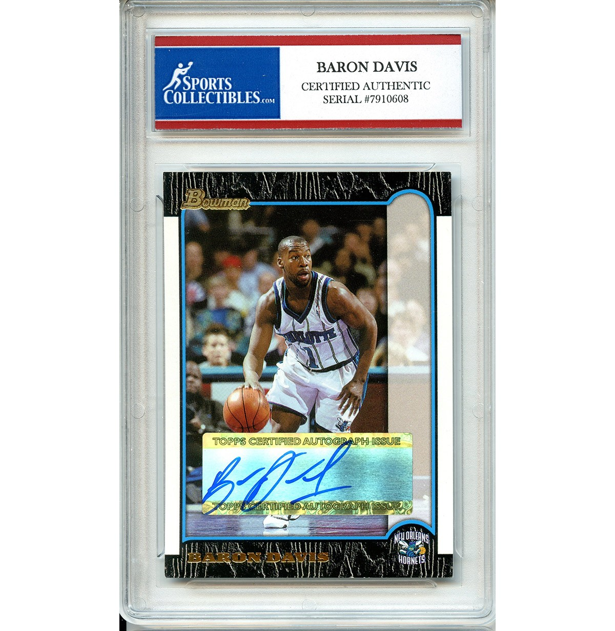 ba432f7fa Baron Davis Autographed Signed 2004 Bowman Trading Card - Certified  Authentic