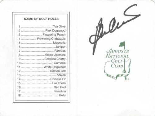 c1bacb96bd7 Ben Crenshaw Autographed Signed Auto Masters Augusta National Golf ...