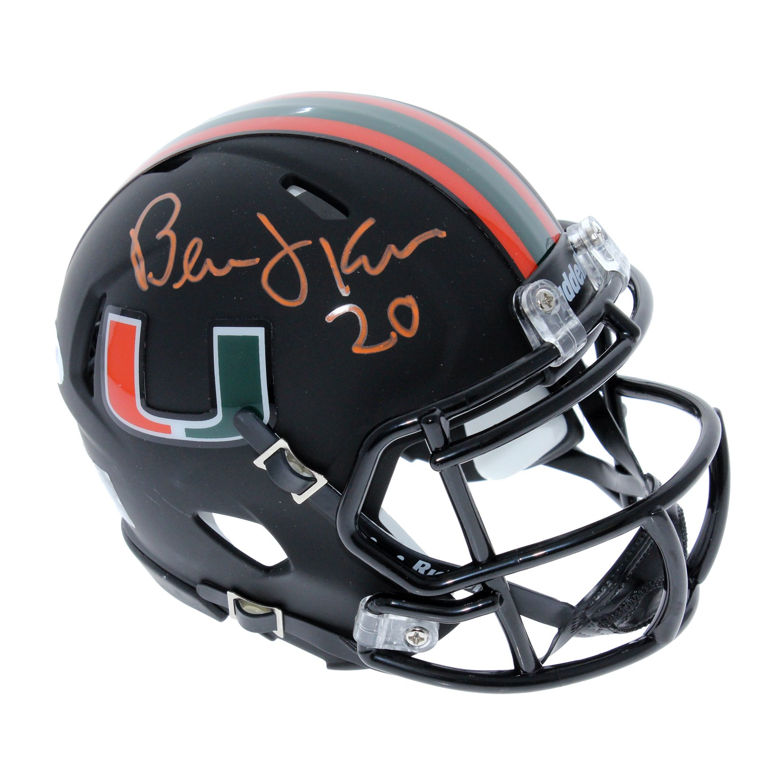 official photos 49763 85dff Bernie Kosar Miami Hurricanes Autographed Signed Riddell ...