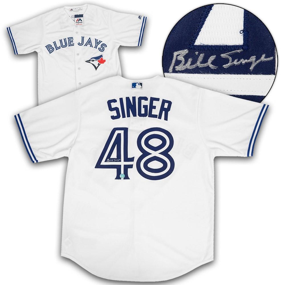 online store a3b7c d133a Bill Singer Toronto Blue Jays Autographed Signed White ...