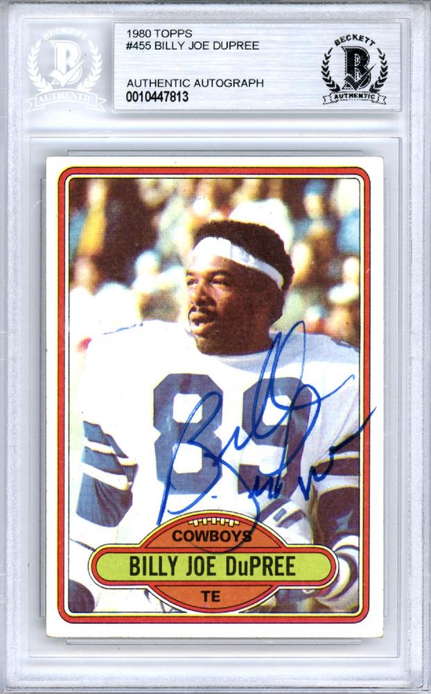 30585161e Billy Joe Dupree Autographed Signed Auto 1980 Topps Card  455 Dallas ...