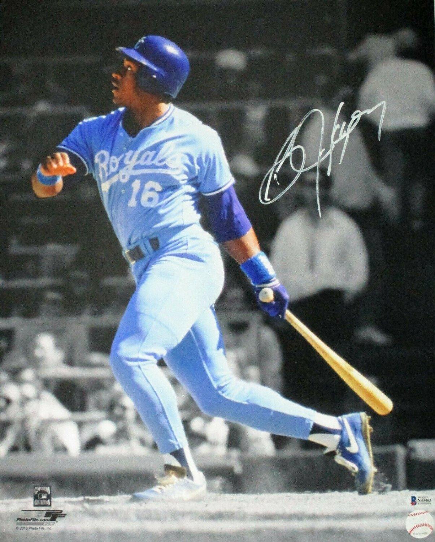 Bo Jackson Signed Black Rawlings Bat Kansas City Royals Certified Genuine Autograph By Beckett