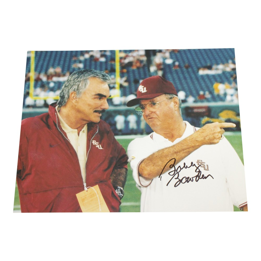 Bobby Bowden Autographed Signed 8x10 Photo Florida State Seminoles with Burt Reynolds Sports Collectibles Authentic