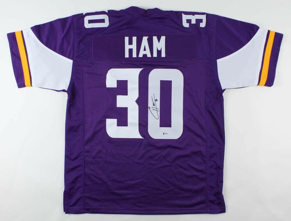 C.J. Ham Autographed Signed Minnesota Vikings Football Purple ...