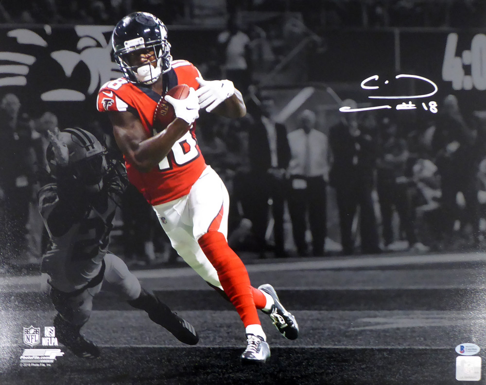 best loved 3162c 811bd Calvin Ridley Autographed Signed 16x20 Photo Atlanta Falcons ...