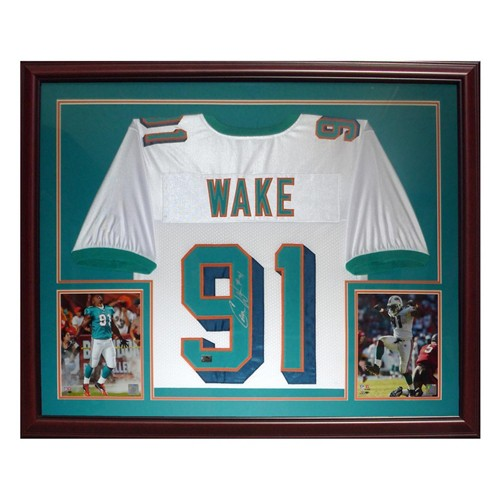 Cameron Wake Autographed Signed Miami Dolphins (White #91) Deluxe ...