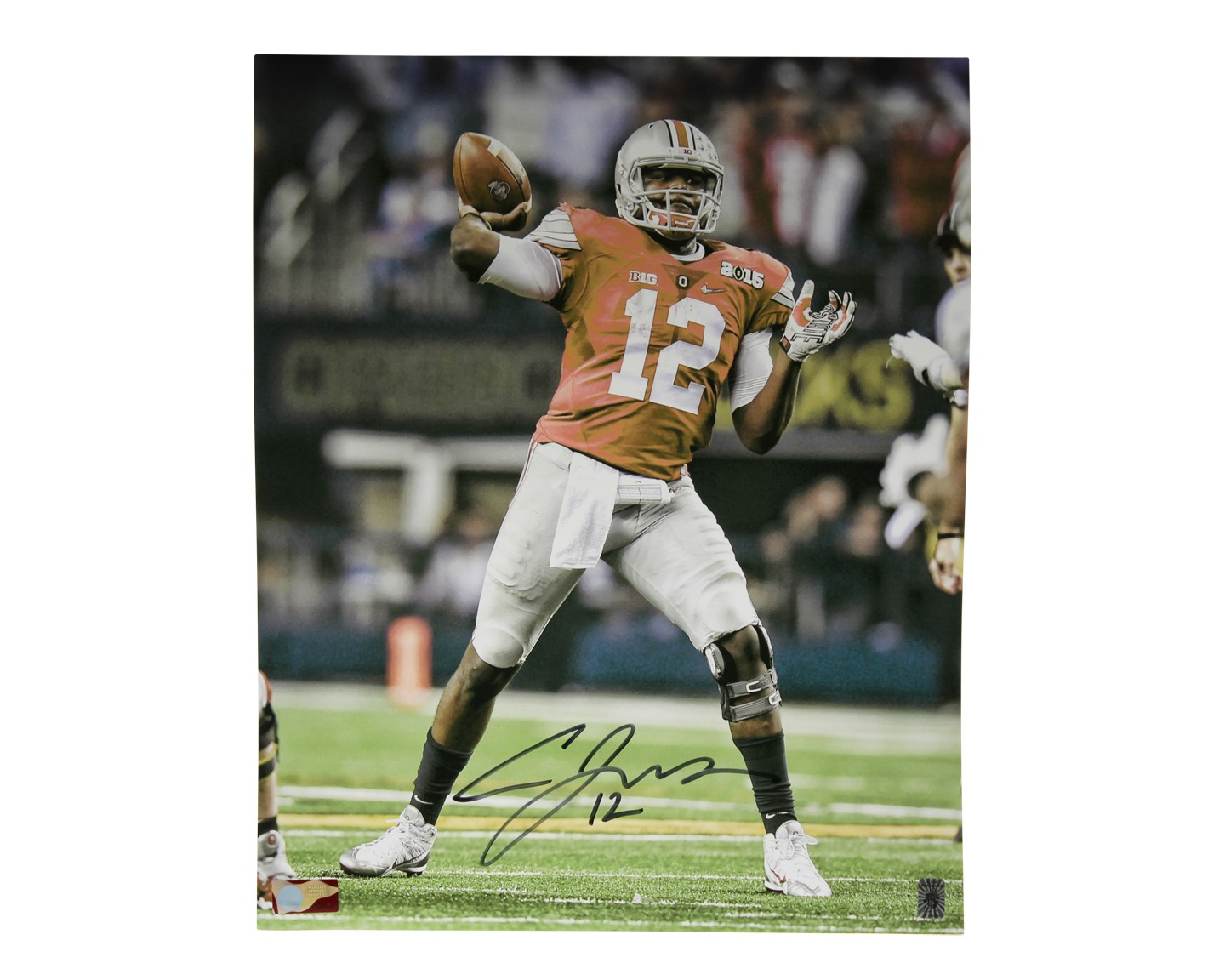 newest 9f12a b5cac Cardale Jones Autographed Signed 16x20 Photo Ohio State ...