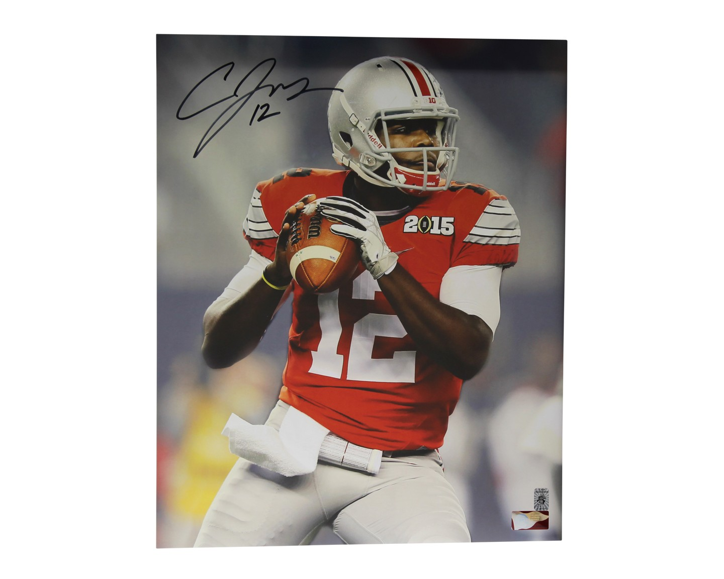 Cardale Jones Autographed Signed Ohio State Buckeyes Framed 16x20 Photo Sports Collectibles Authentication