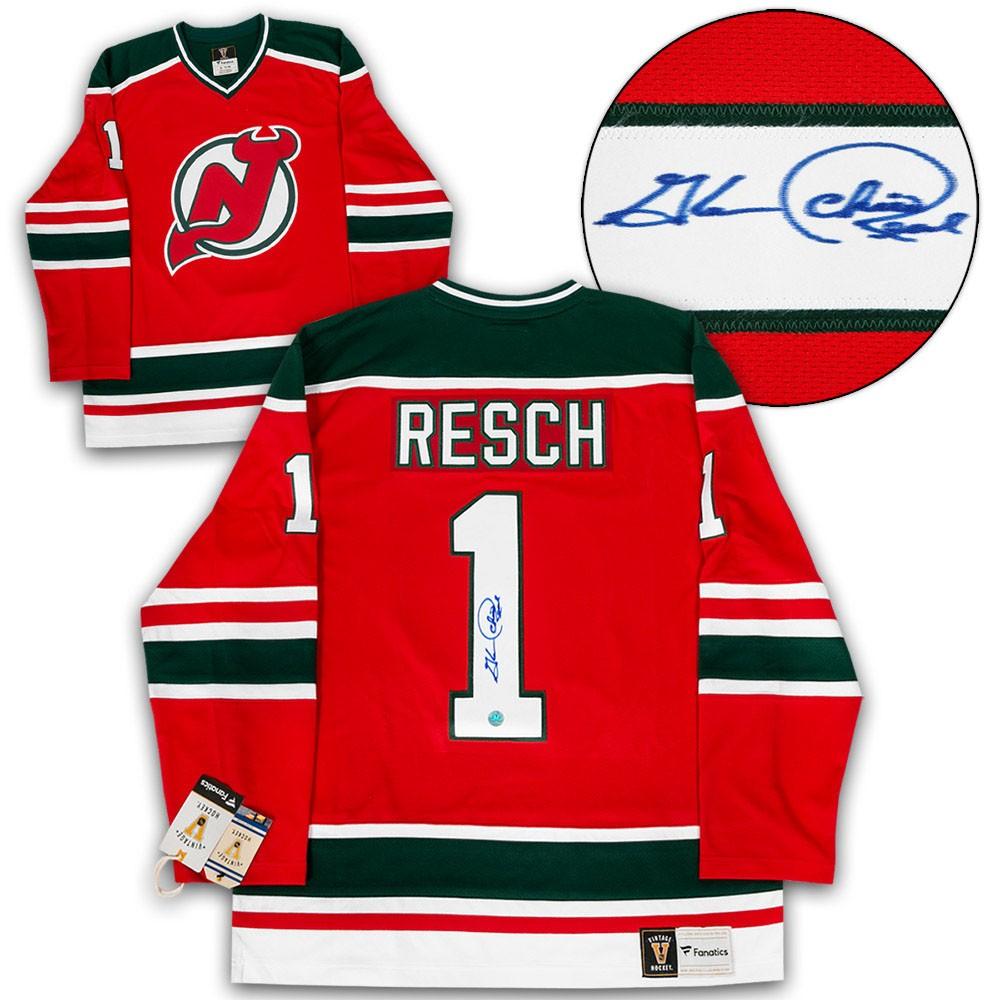 hot sale online bad8c 57eb9 Chico Resch New Jersey Devils Autographed Signed Fanatics ...