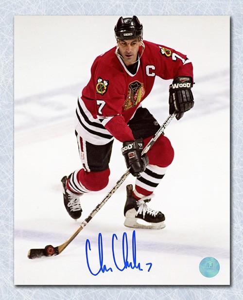 Chris Chelios Chicago Blackhawks Autographed Signed Captain Autographed  Signed 16x20 Photo - Certified Authentic 552780d65