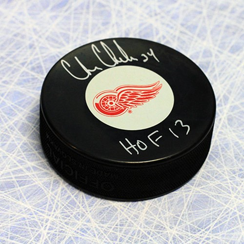 Chris Chelios Detroit Red Wings Autographed Signed Hockey Puck with HOF  Note - Certified Authentic 33d88e128