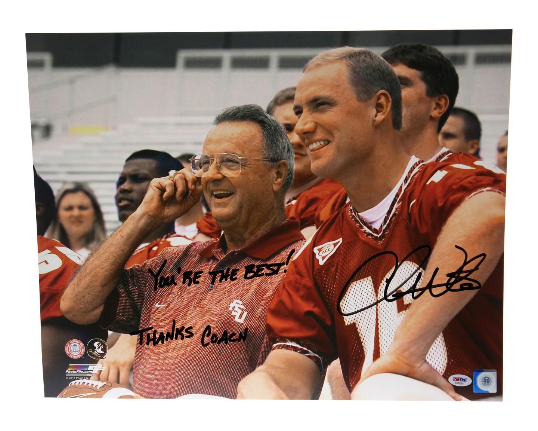 Authentic Autographed Chris Weinke FSU Seminoles Framed 16x20 Photo ~ Horizontal vs Miami