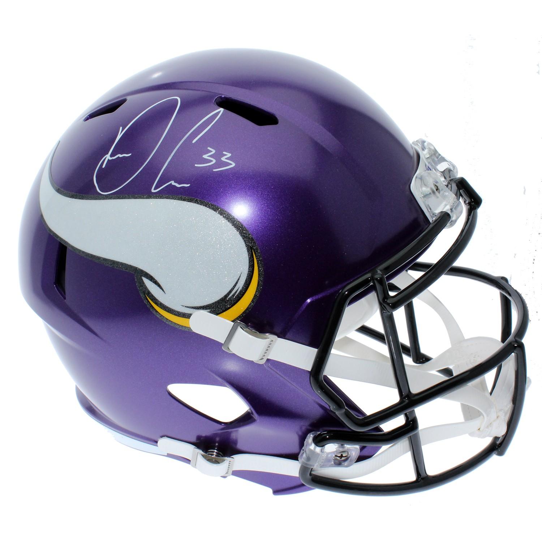 ac4c3bd5d7e Dalvin Cook Autographed Signed Minnesota Vikings Riddell Full Size Speed  Replica Helmet - JSA Authentication