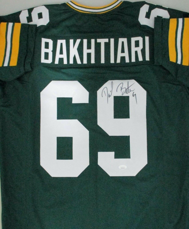 David Bakhtiari Autographed Signed Packers #69 Custom Replica ...