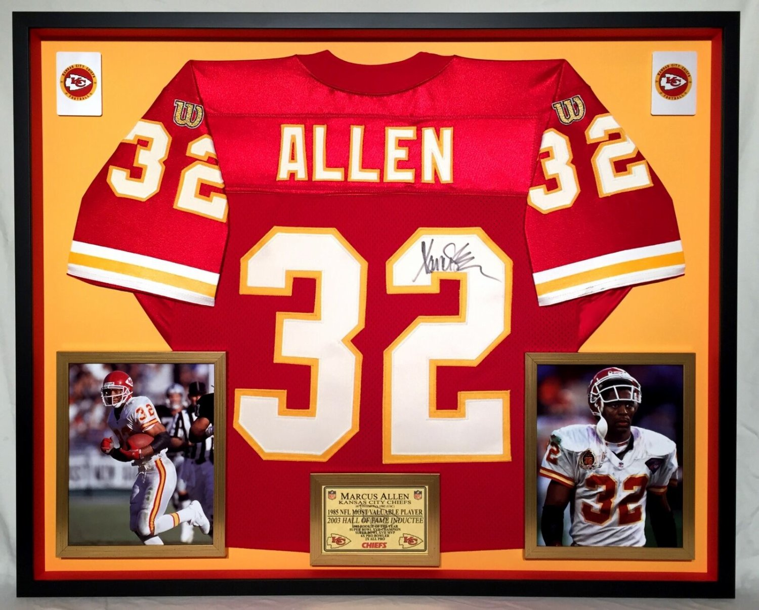 quality design 95cf6 26fe1 Deluxe Framed Marcus Allen Autographed Signed Official ...