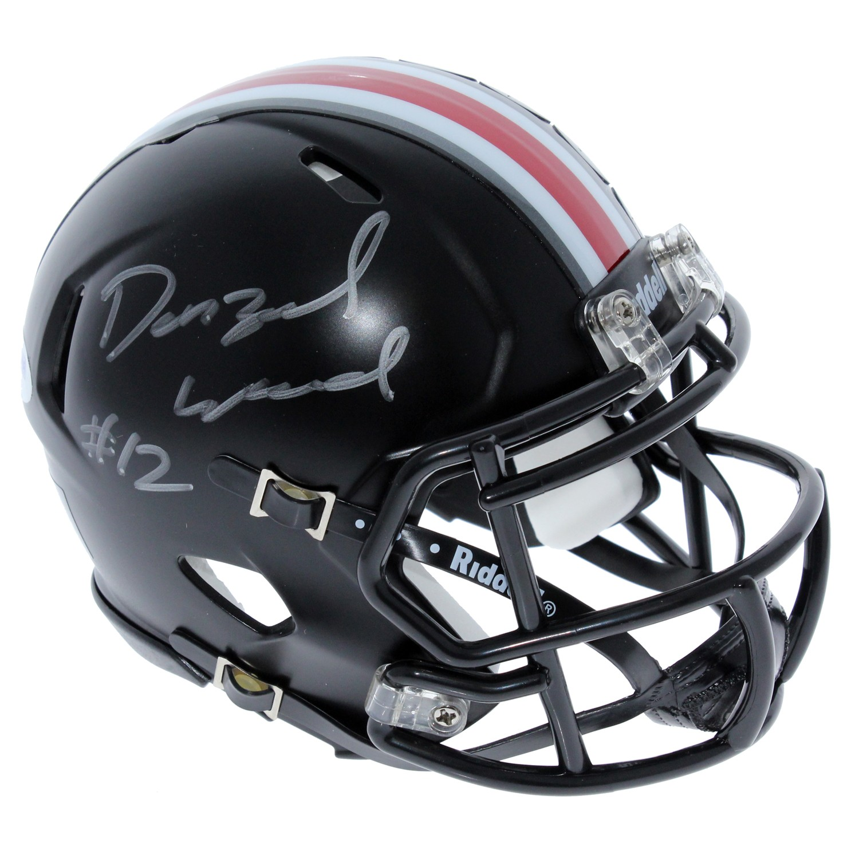 8a9babeb Denzel Ward Ohio State Buckeyes Autographed Signed Riddell Black ...