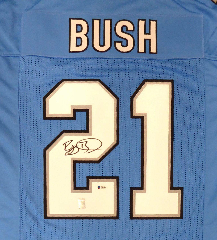Detroit Lions Reggie Bush Autographed Signed Blue Jersey Beckett BAS