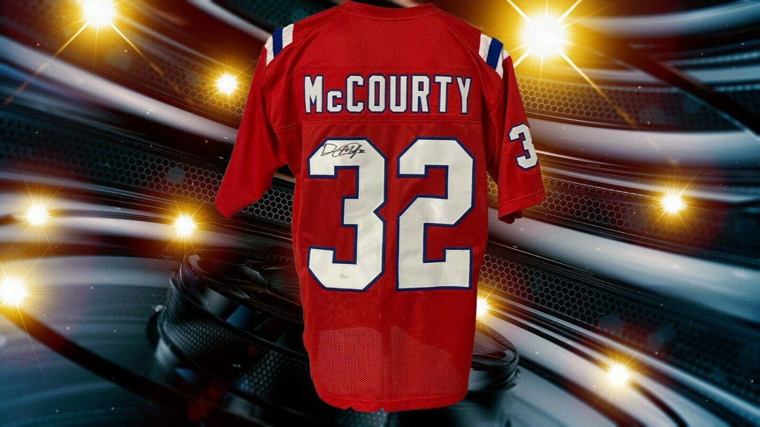 Devin Mccourty Autographed Signed Custom New England Patriots Red ...