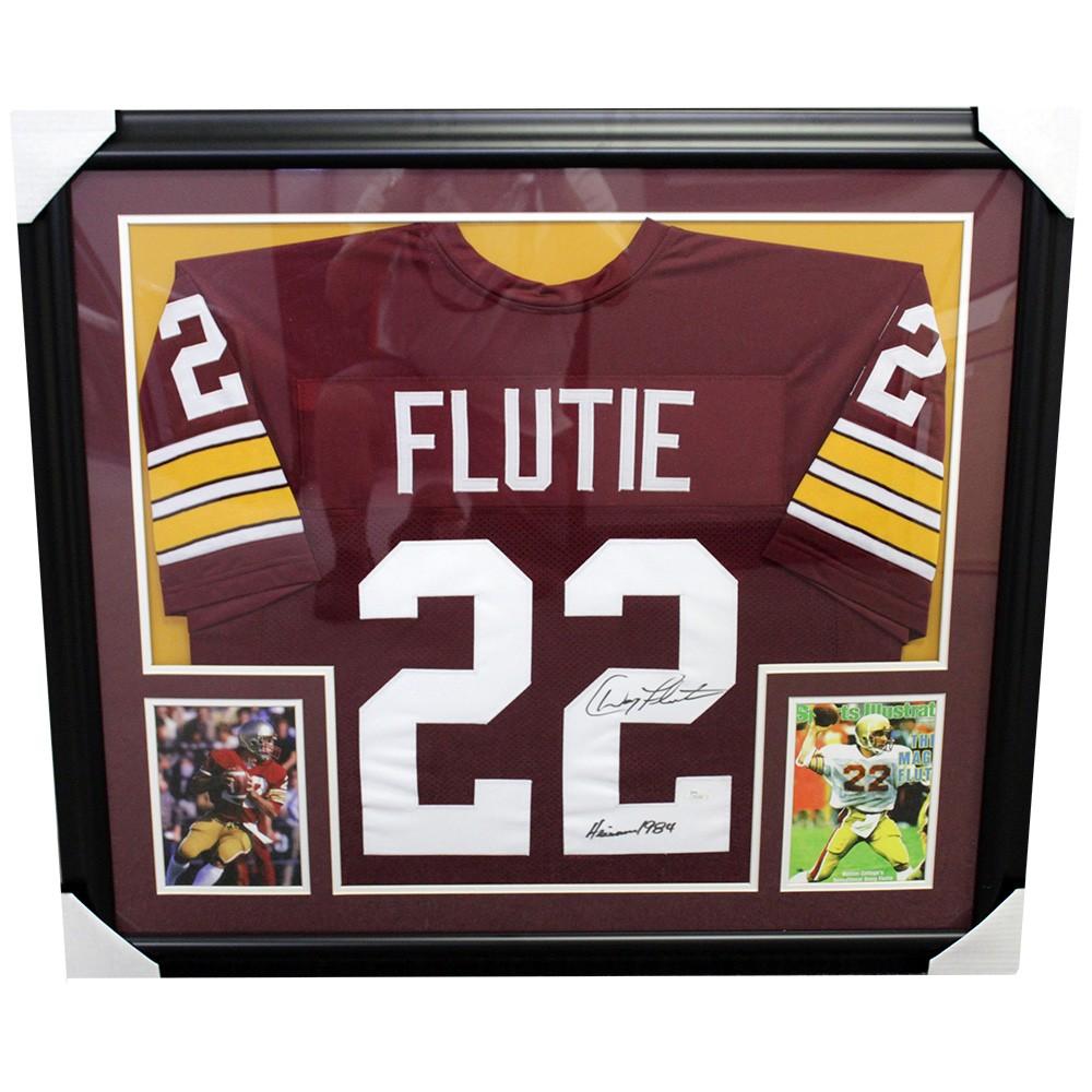 newest 506ed 0862d Doug Flutie Autographed Signed Boston College Framed Jersey ...