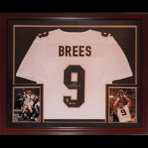 promo code 01c68 a310f Drew Brees Autographed Signed Auto New Orleans Saints White ...