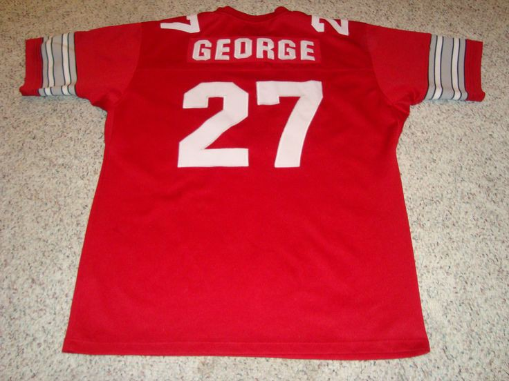 purchase cheap d0852 8f86a Eddie George Unsigned Ohio State Buckeyes Custom Jersey ...