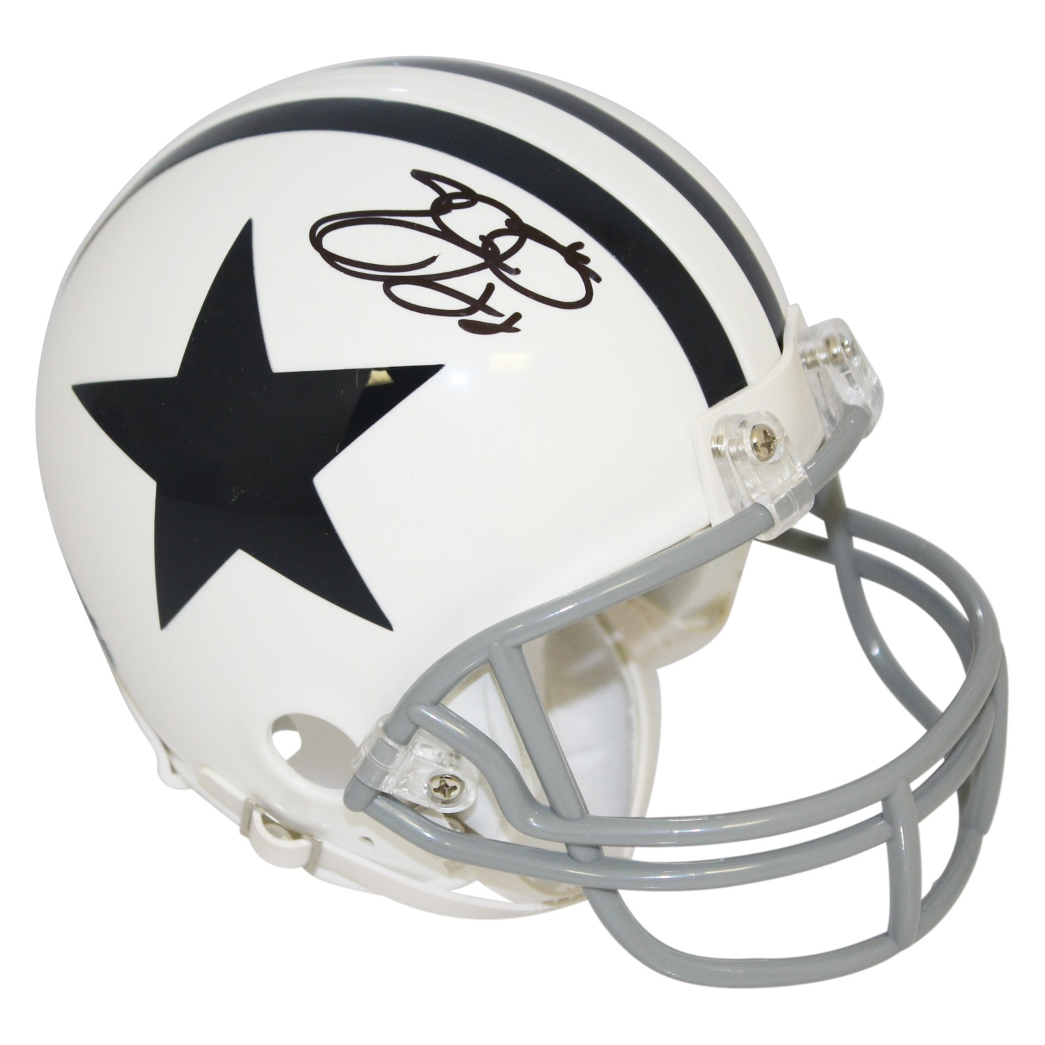 Emmitt Smith Dallas Cowboys Autographed Signed Riddell White
