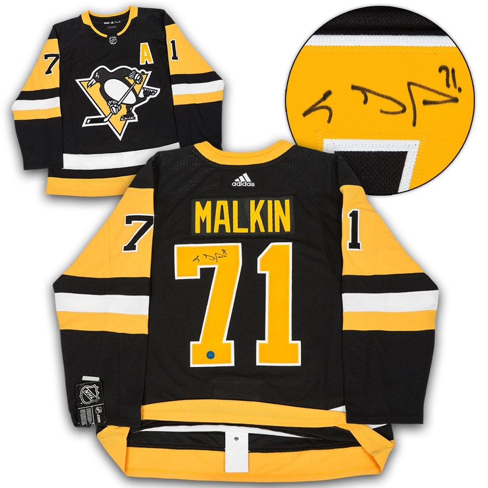 low priced ca118 6ef92 Evgeni Malkin Pittsburgh Penguins Autographed Signed Adidas ...