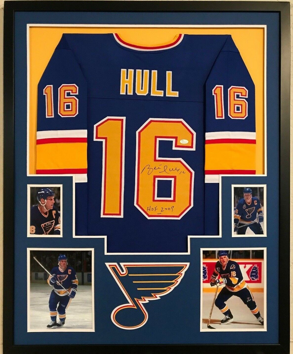 the best attitude 0f990 aa012 Framed Brett Hull Autographed Signed Inscribed St. Louis ...