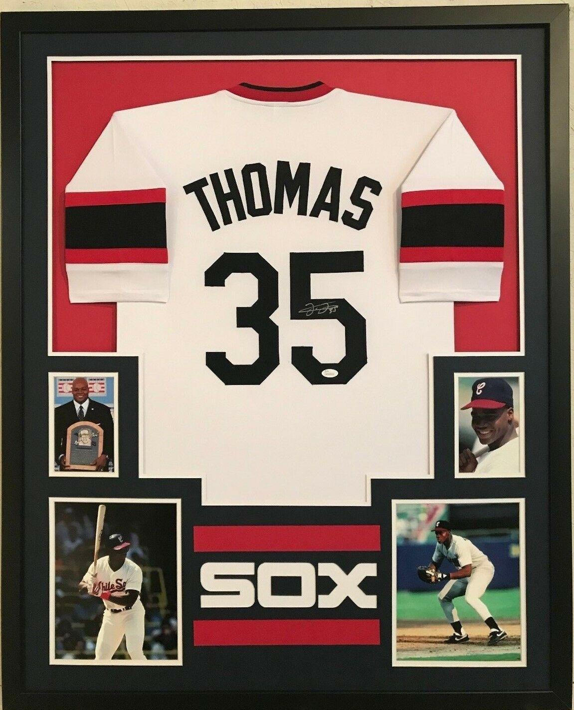 best value 29493 eda7e Framed Frank Thomas Autographed Signed Chicago White Sox ...