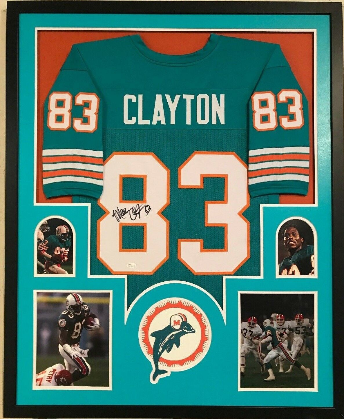 separation shoes c7bf3 78cb1 Framed Mark Clayton Autographed Signed Miami Dolphins Jersey ...