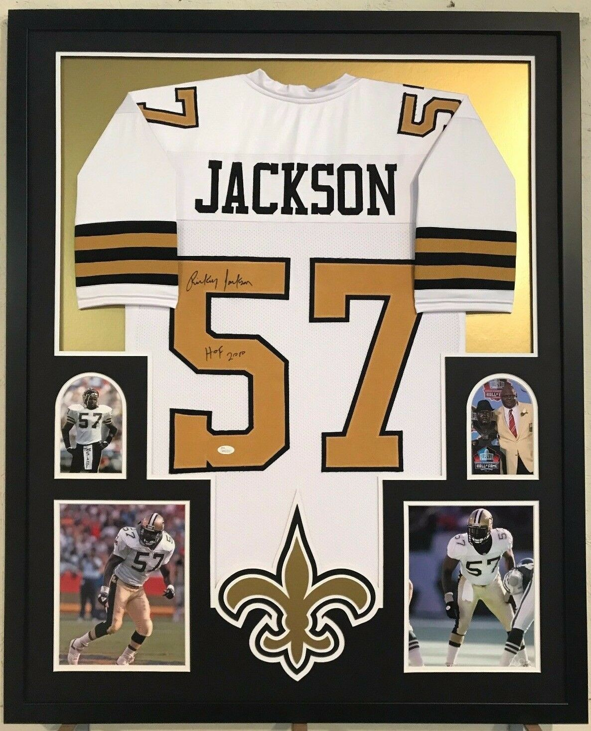 9114d85aa49 Framed Rickey Jackson Autographed Signed Insc New Orleans Saints ...