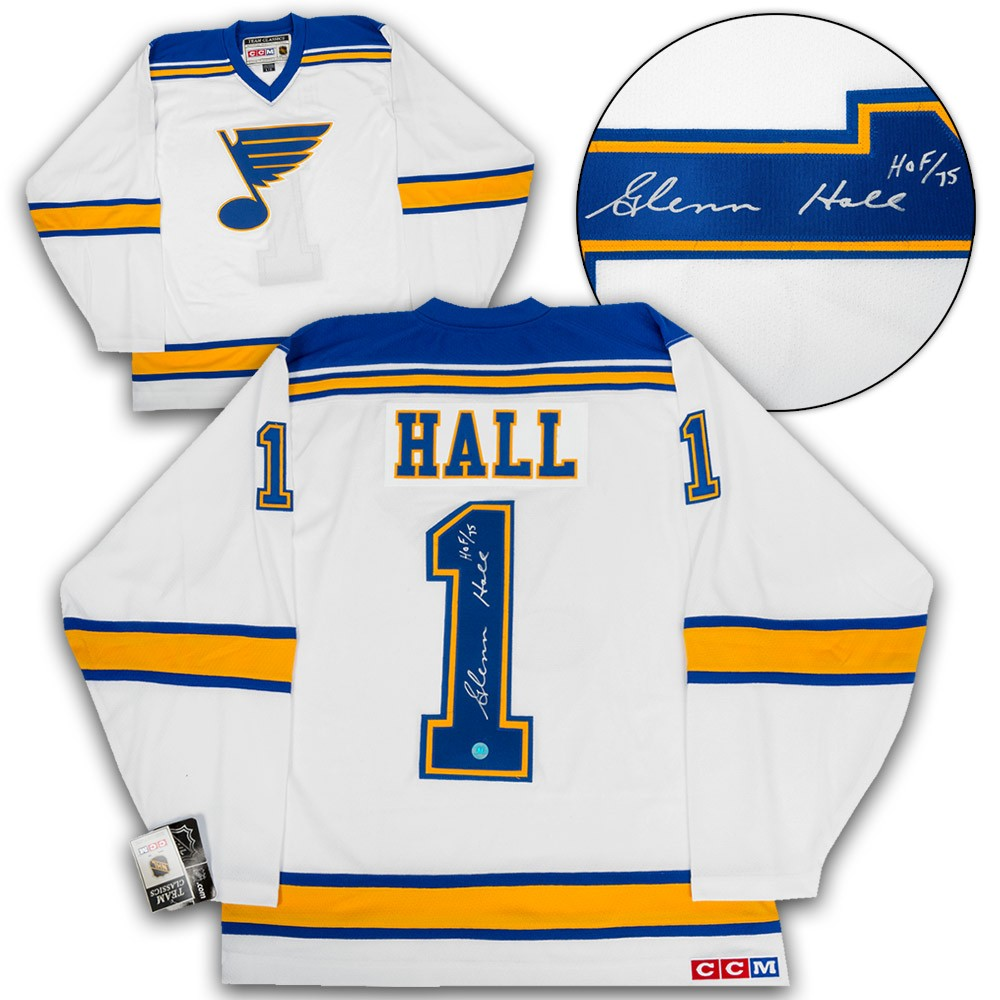Glenn Hall St. Louis Blues Autographed Signed 1967 Expansion Retro CCM  Hockey Jersey - Certified Authentic 4bef68990
