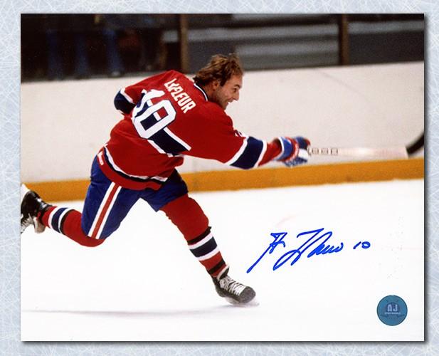 ade19de1c Guy LaFleur Montreal Canadiens Autographed Signed Slapshot 8x10 Photo -  Certified Authentic
