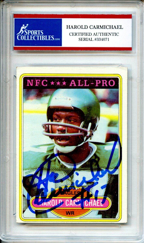 c29b2469b Harold Carmichael 1980 Topps NFC All-Pro Philadelphia Eagles ...