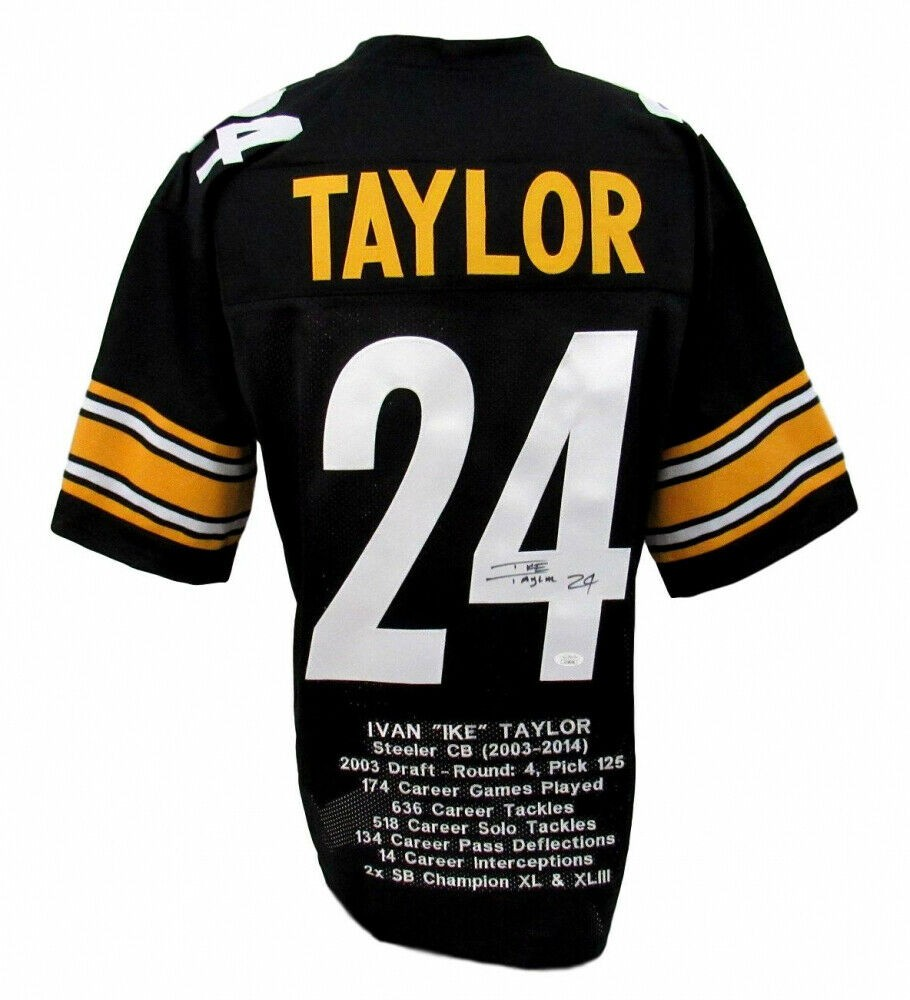 Ike Taylor Autographed Signed Pittsburgh Steelers Career Highlight ...