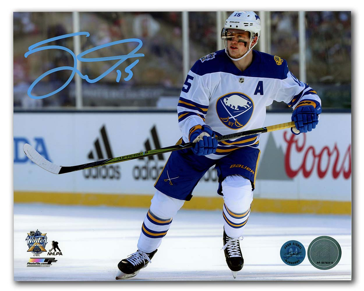 3b1361fe3 Jack Eichel Buffalo Sabres Autographed Signed 2018 Winter Classic 8x10  Photo - Certified Authentic