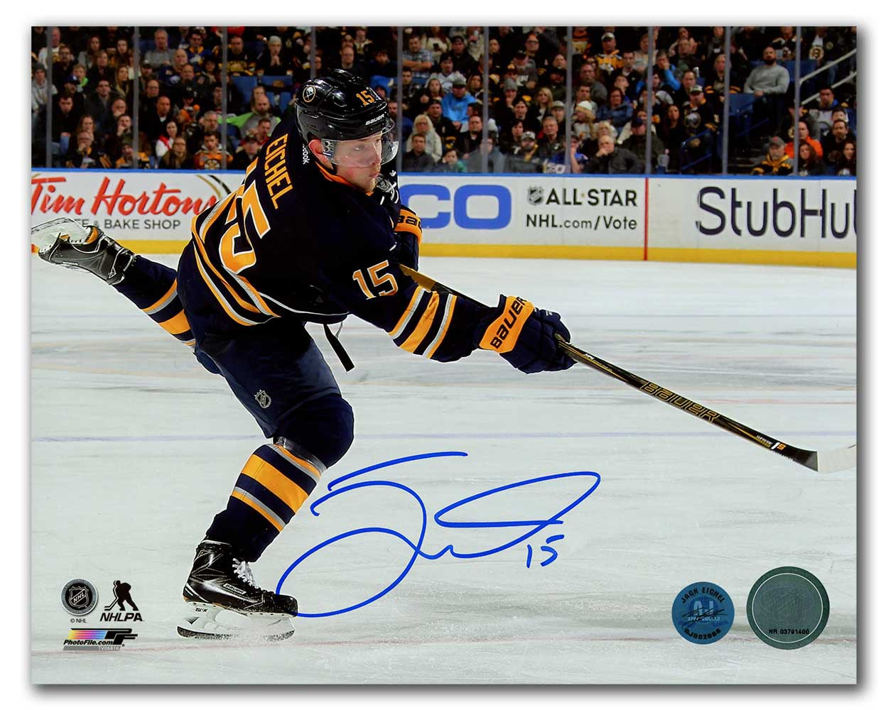 a1bca6ceb Jack Eichel Buffalo Sabres Autographed Signed Hockey Sniper 8x10 Photo -  Certified Authentic