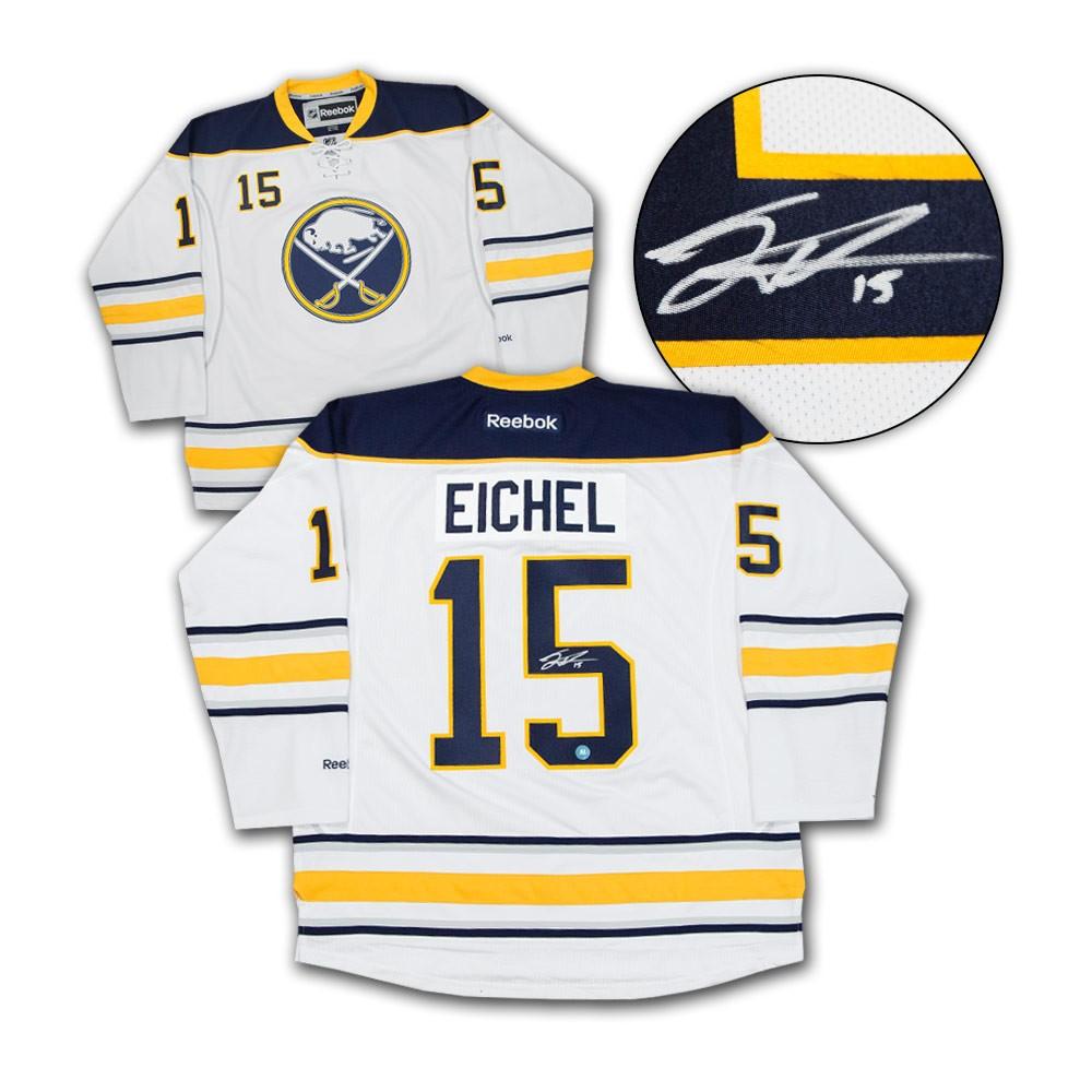 Jack Eichel Buffalo Sabres Autographed Signed Signature White Reebok ...