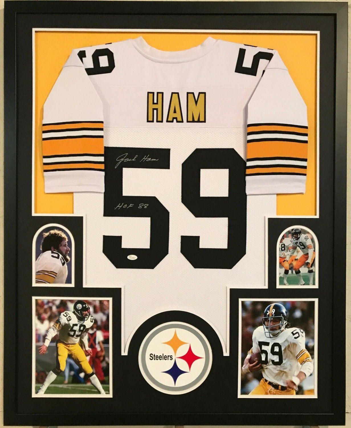the best attitude ce54a 45476 Jack Ham Autographed Signed Custom Framed Pittsburgh ...